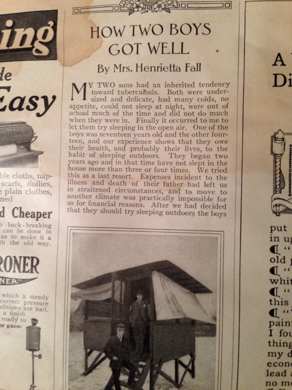 How Two Boys Got Well, Ladies'  Home Journal 1910