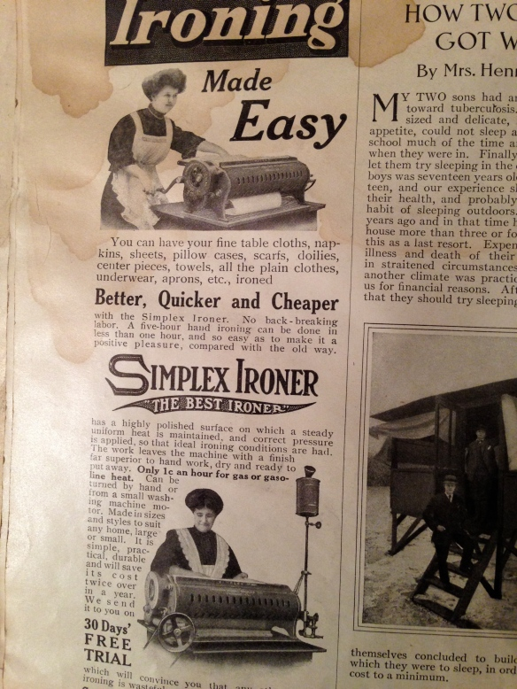 Ironing made easy with the Simplex Ironer