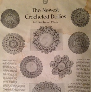 Ladies' Home Journal April 1910, The Newest Crocheted Doilies