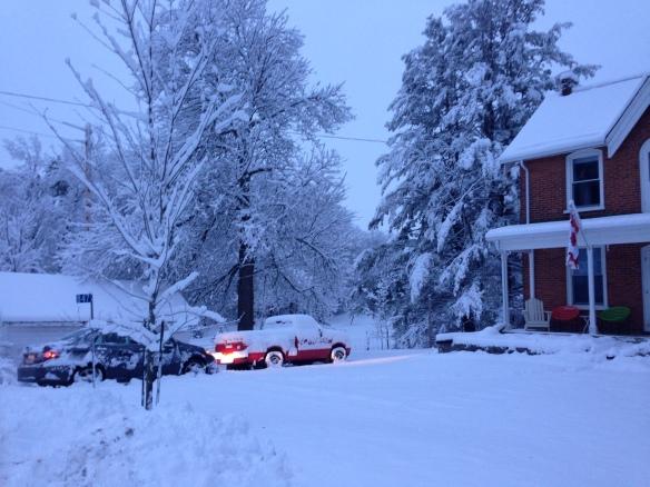 snowy morning at the Manse