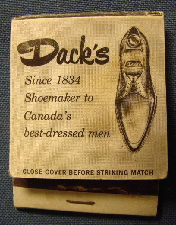 Dack's matchbook