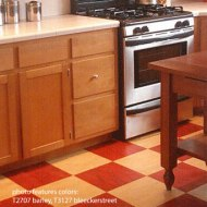 red and cream tile