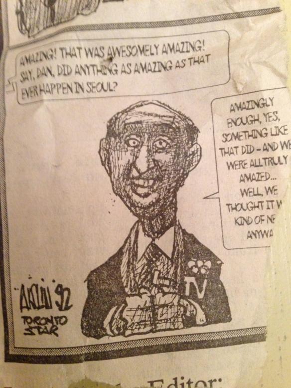 scrap of Aislin cartoon, 1992