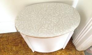 vintage laundry-hamper lid
