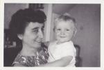 Lorna Sedgwick with baby John