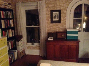 Manse study with bookshelves