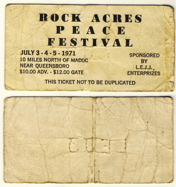 Rock Acres Ticket