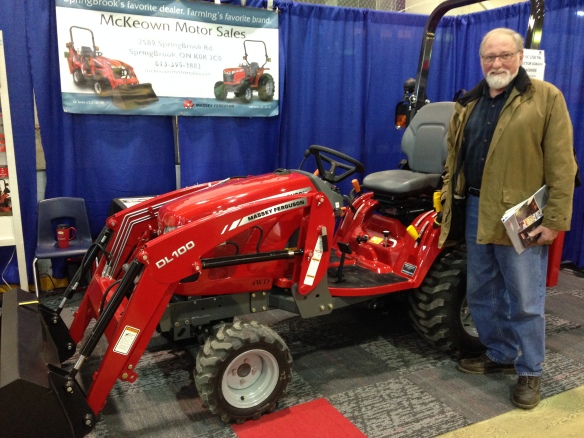 Raymond and the red Massey Ferguson