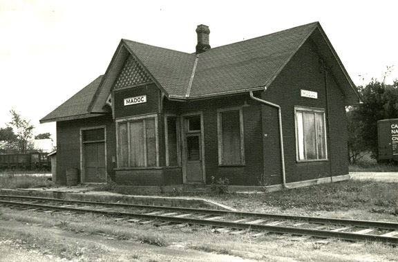 Madoc train station 1974