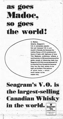 Madoc ad for Seagram's V.O.
