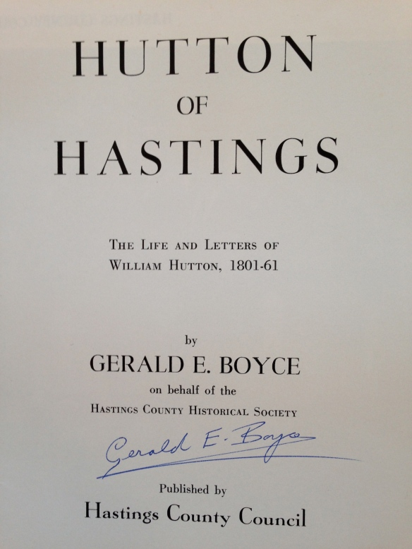 Hutton of Hastings, signed by Gerry Boyce