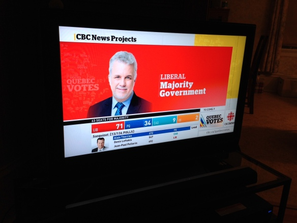 Quebec election at the Manse