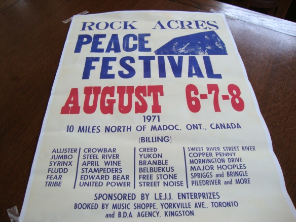 Rock Acres Peace Festival poster