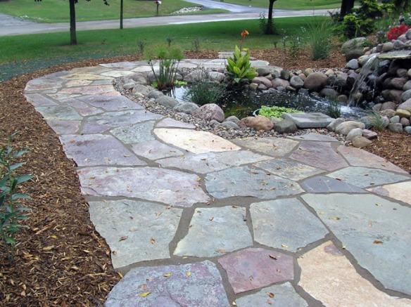 Nice flagstone walkway