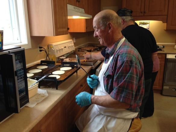 Pancake Breakfast inside crew
