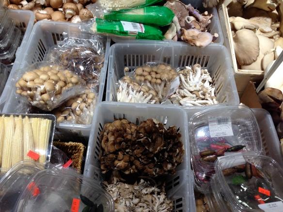 The mushroom selection