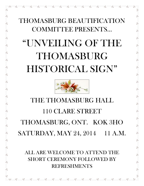 Thomasburg invitation