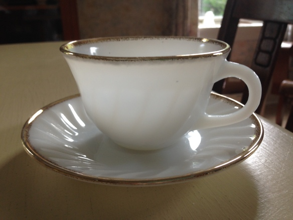 Fire-King cup and saucer