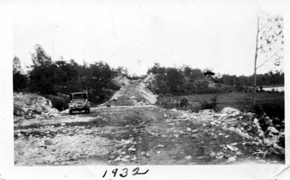 Highway 7 under construction, 1932