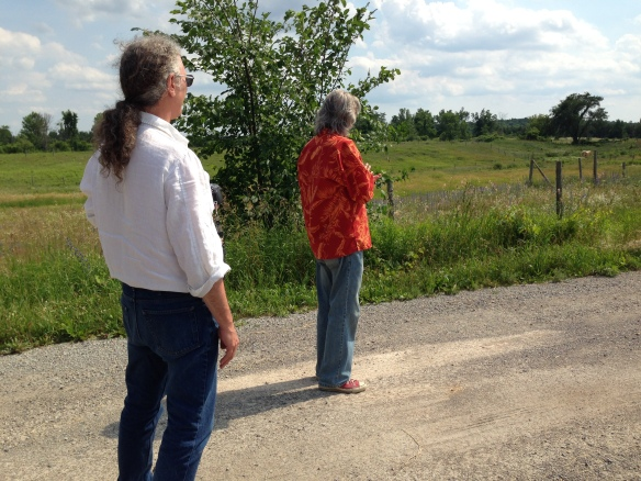 Bert and Barry viewing the Rock Acres site