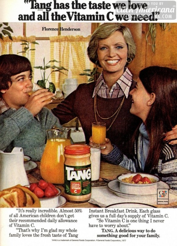 Florence Henderson and Tang