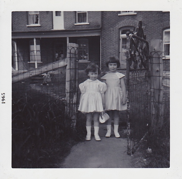 Melanie and me at the Manse, 1965