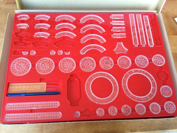 Inside the Spirograph box