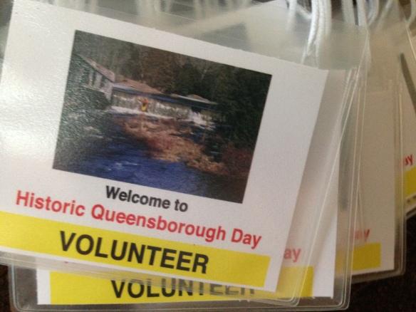 Historic Queensborough Day volunteer badges