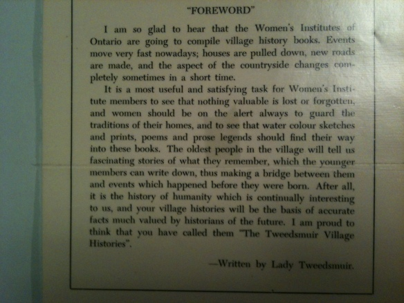 Lady Tweedsmuir's foreword
