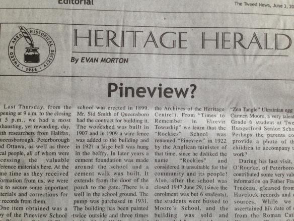 Article on Rockies school