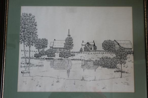 Queensborough Anglican Church sketch