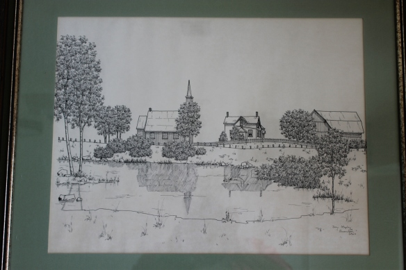 Queensborough Anglican Church sketch