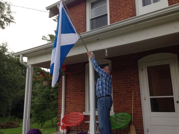 Scottish flag at the Manse