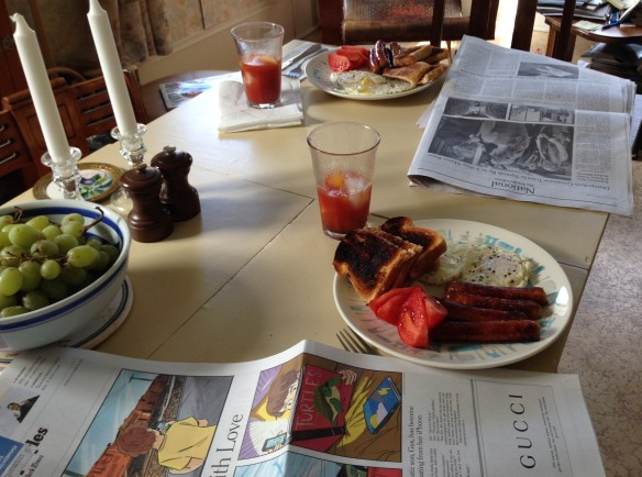Breakfast with the New York Times
