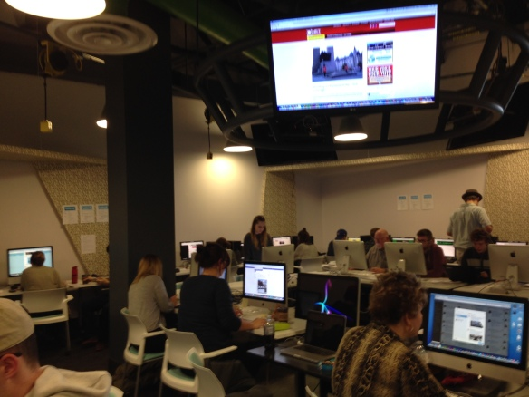 Newsroom in action