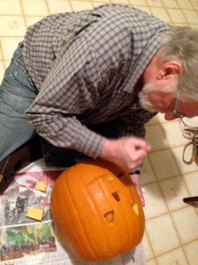 Raymond on carving duty