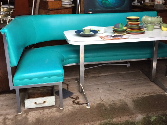 Beautiful turquoise bench