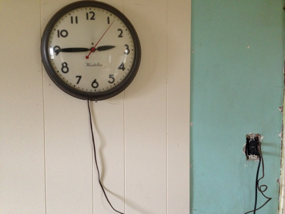 Clock with electrical cord