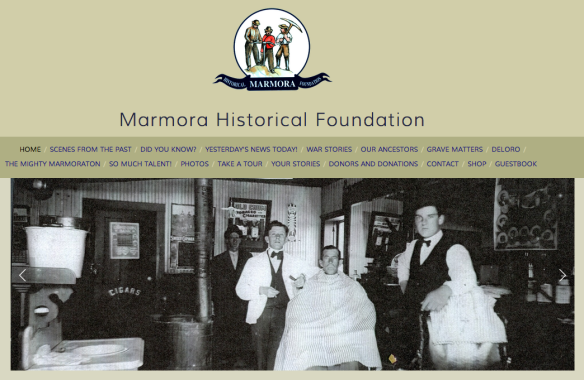 Marmora Historical Foundation website