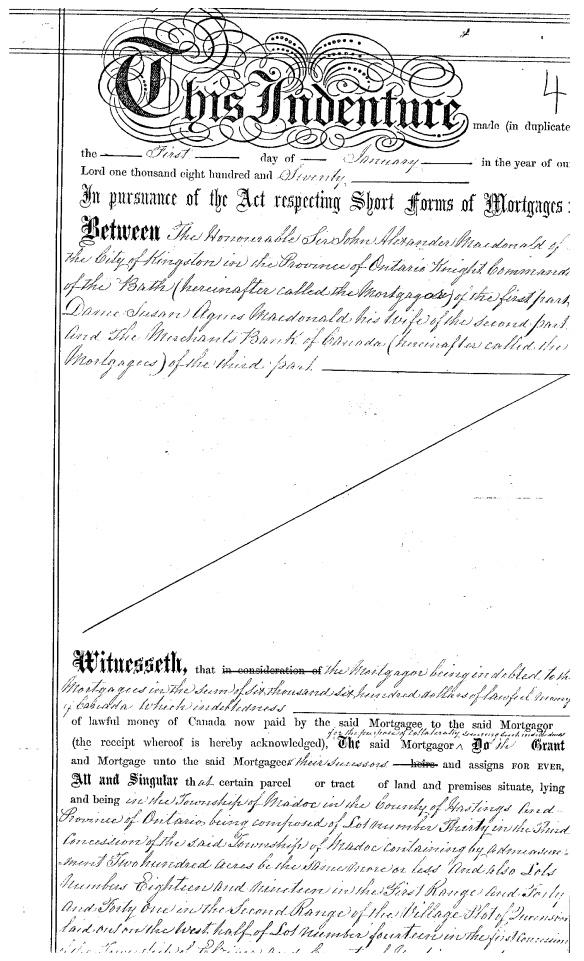 Sir John deed Page 1