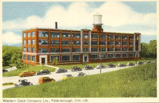 Westclox factory postcard