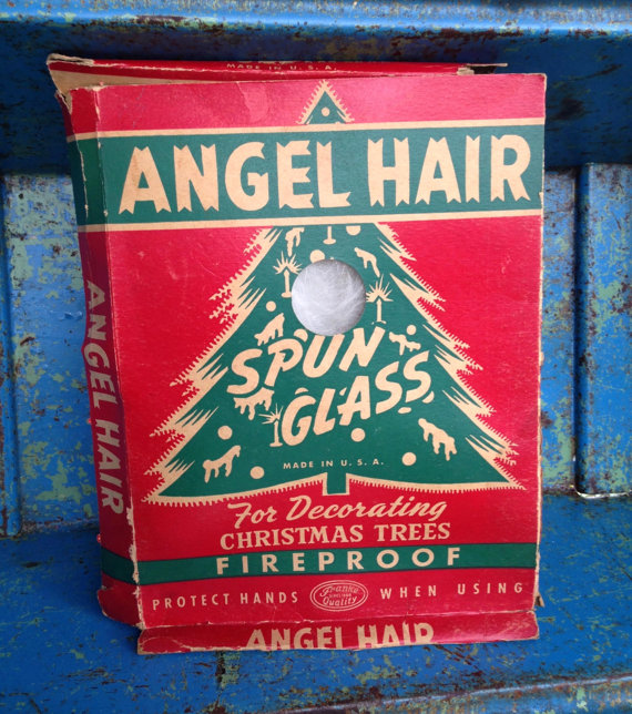 angel hair fireproof the box proclaims yeah right didnt that stuff get banned when it caused one too many disastrous holiday season blazes - Angel Hair Christmas Decoration