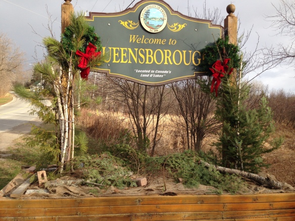 Christmas Queensborough sign