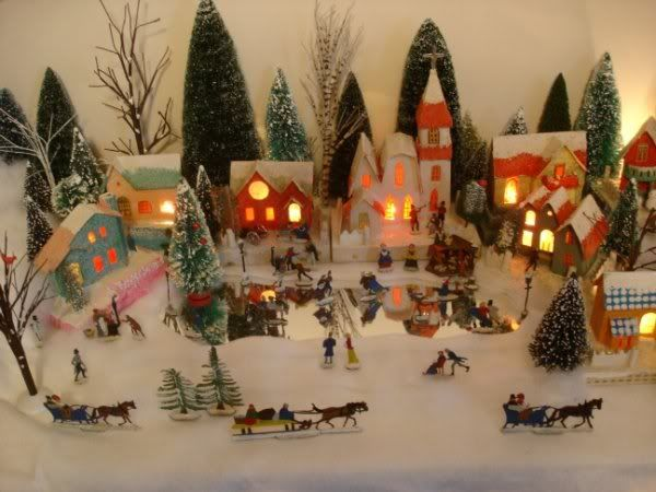 christmas village - Miniature Christmas Village