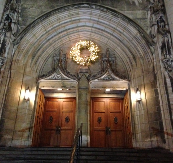 Entrance, the Church of St. Andrew and St. Paul, Montreal, December 2014