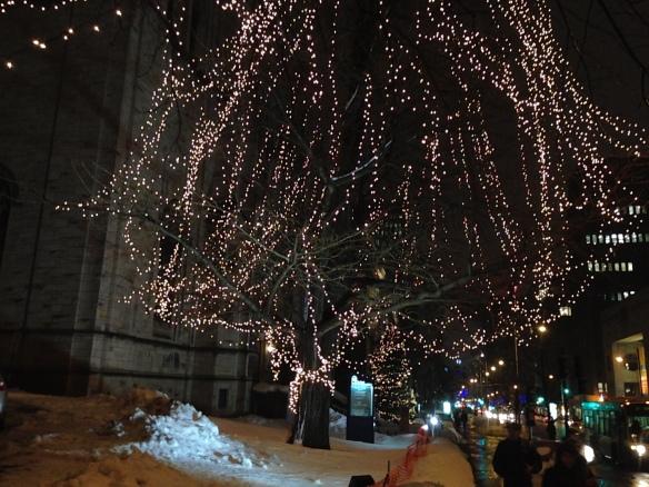 Sherbrooke Street, Montreal, Christmas 2014