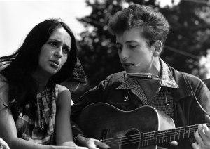 Joan Baez and Bob Dylan