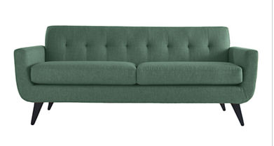 Hudson couch in teal