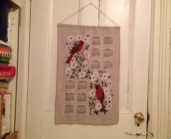 Tea-towel calendar