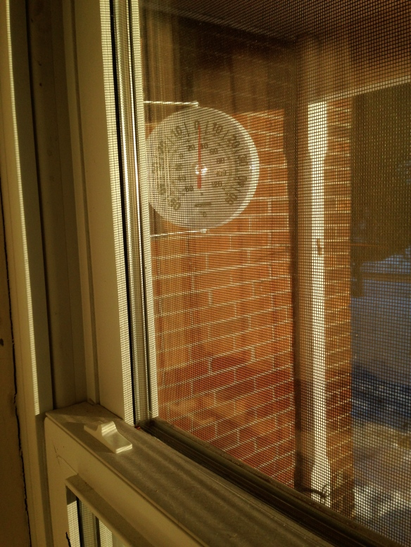 Thermometer at the front of the Manse